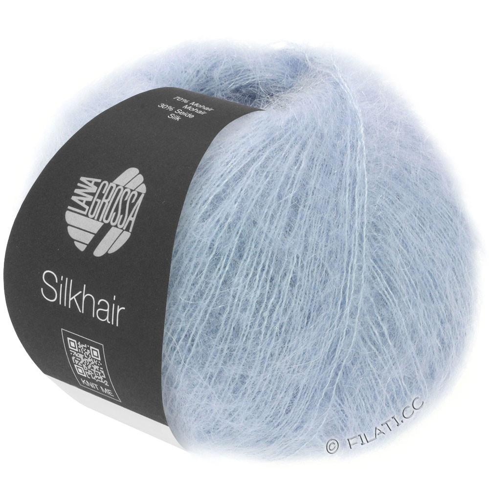 Lana Grossa SILKHAIR  Uni/Melange уни/меланж | 092-голубой