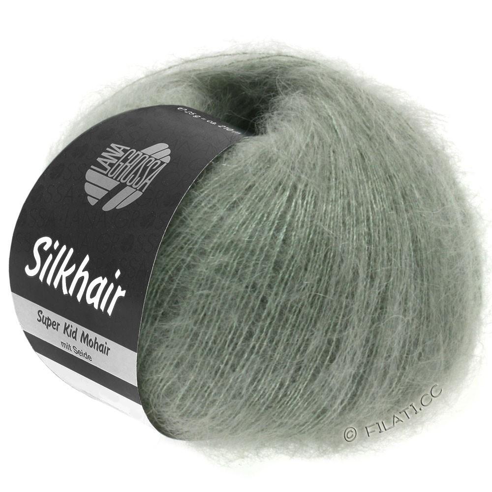 Lana Grossa SILKHAIR  Uni/Melange уни/меланж | 105-серо-зеленый