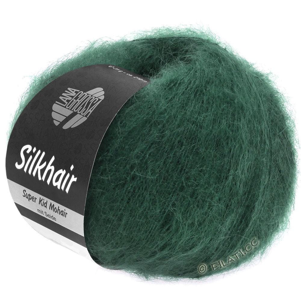Lana Grossa SILKHAIR  Uni/Melange уни/меланж | 110-тёмно-зелёный