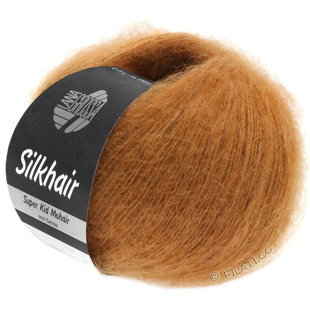 Lana Grossa SILKHAIR  Uni/Melange уни/меланж | 115-золотисто-коричневый