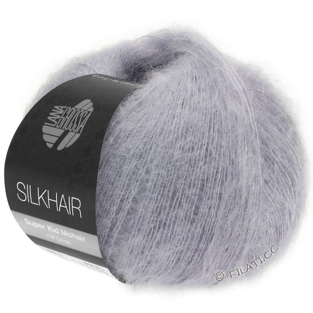 Lana Grossa SILKHAIR  Uni/Melange уни/меланж | 119-серо-фиолетовый