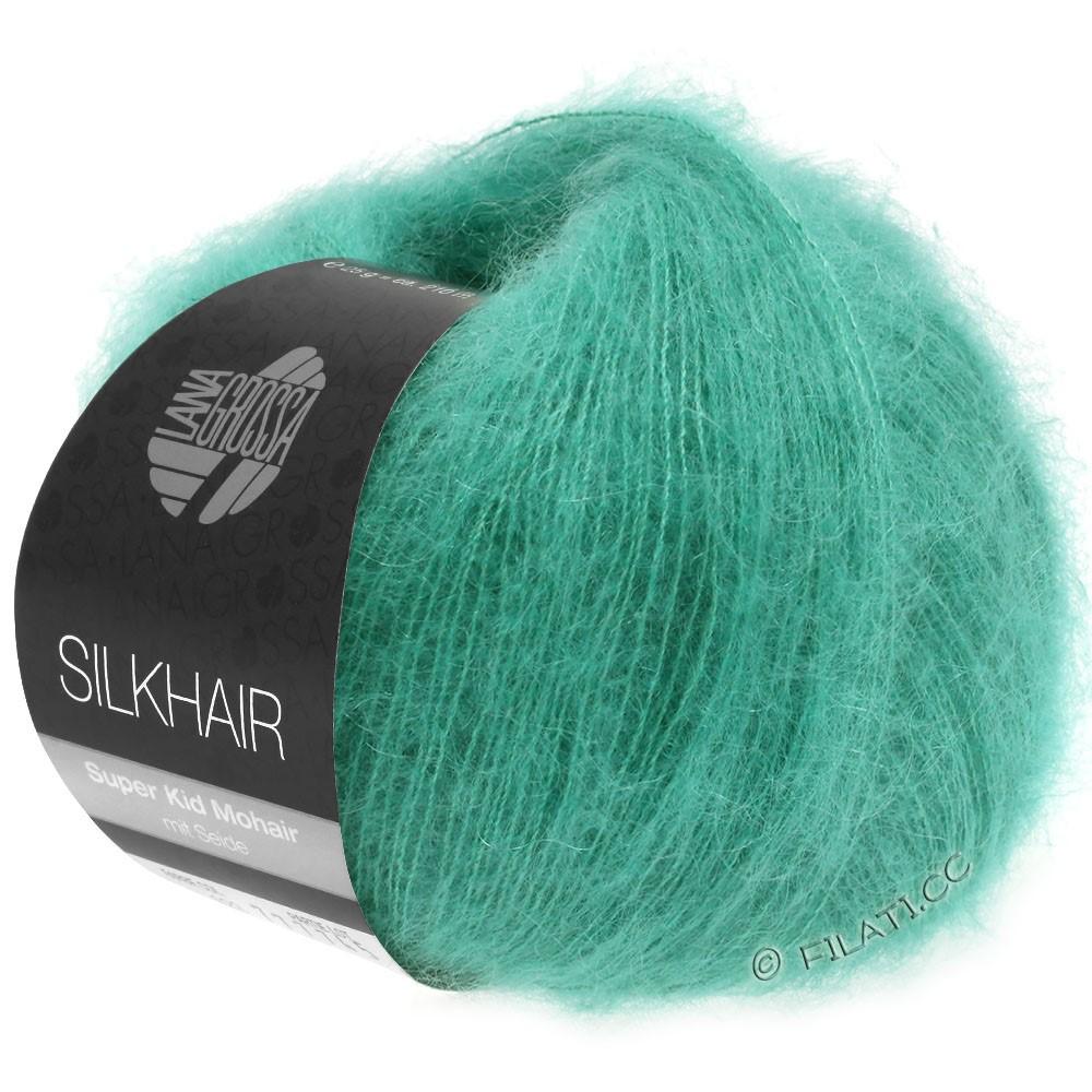 Lana Grossa SILKHAIR  Uni/Melange уни/меланж | 120-зелено-бирюзовый