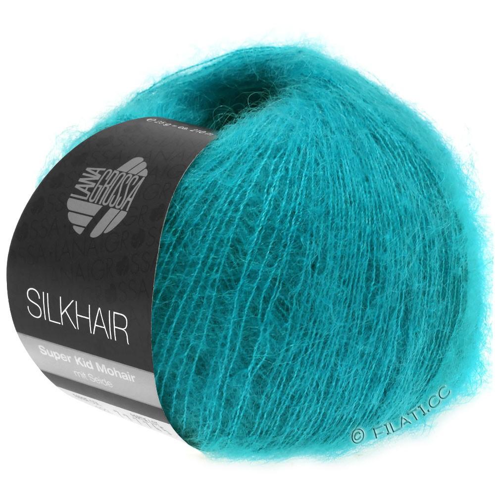 Lana Grossa SILKHAIR  Uni/Melange уни/меланж | 121-сине-зелённый