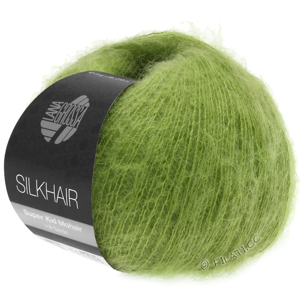 Lana Grossa SILKHAIR  Uni/Melange уни/меланж | 122-зеленый лист