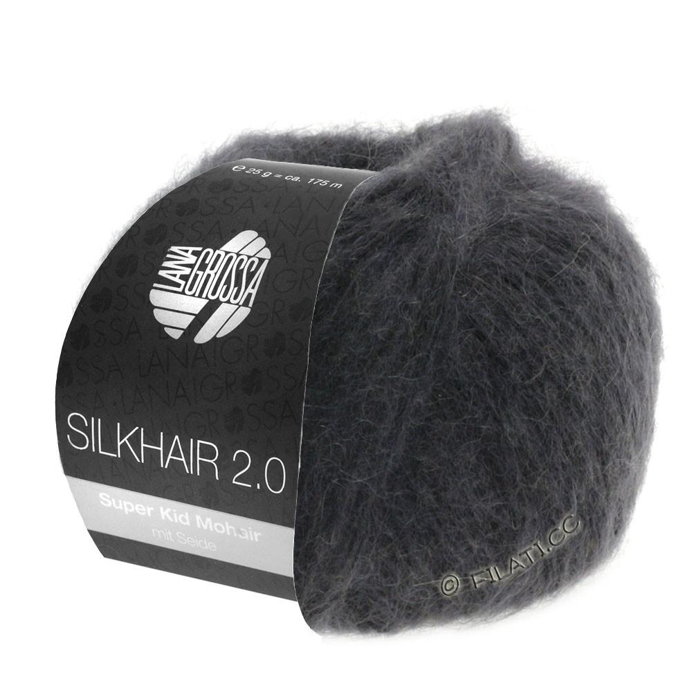 Lana Grossa SILKHAIR 2.0 | 01-антрацитовый