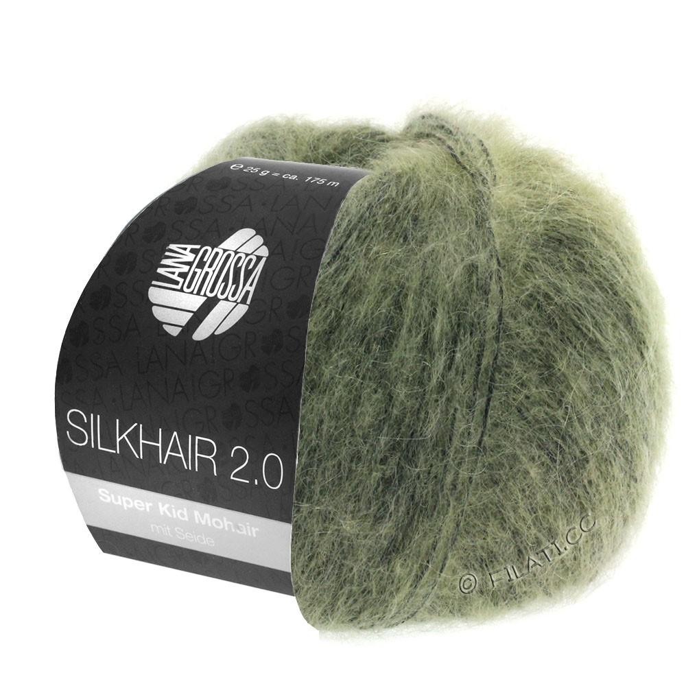 Lana Grossa SILKHAIR 2.0 | 04-серо-зеленый