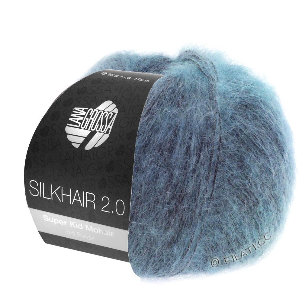 Lana Grossa SILKHAIR 2.0 | 10-серо-синий