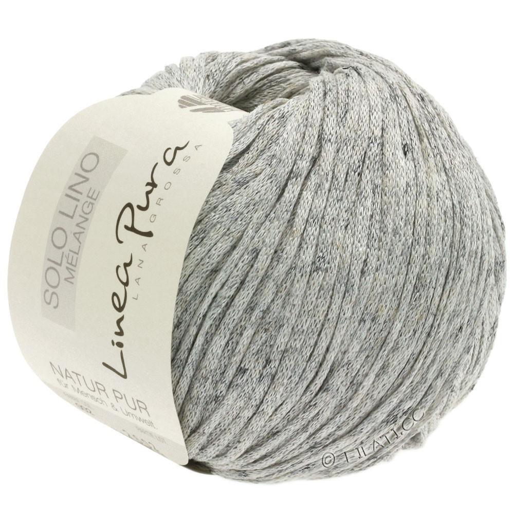 Lana Grossa SOLO LINO MELANGE (Linea Pura) | 102-естественный цвет/серый смешанный