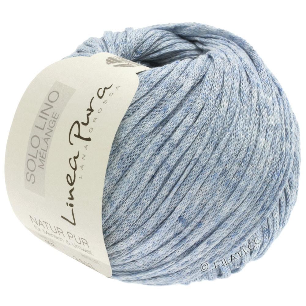 Lana Grossa SOLO LINO MELANGE (Linea Pura) | 108-синяя пастель смешанный