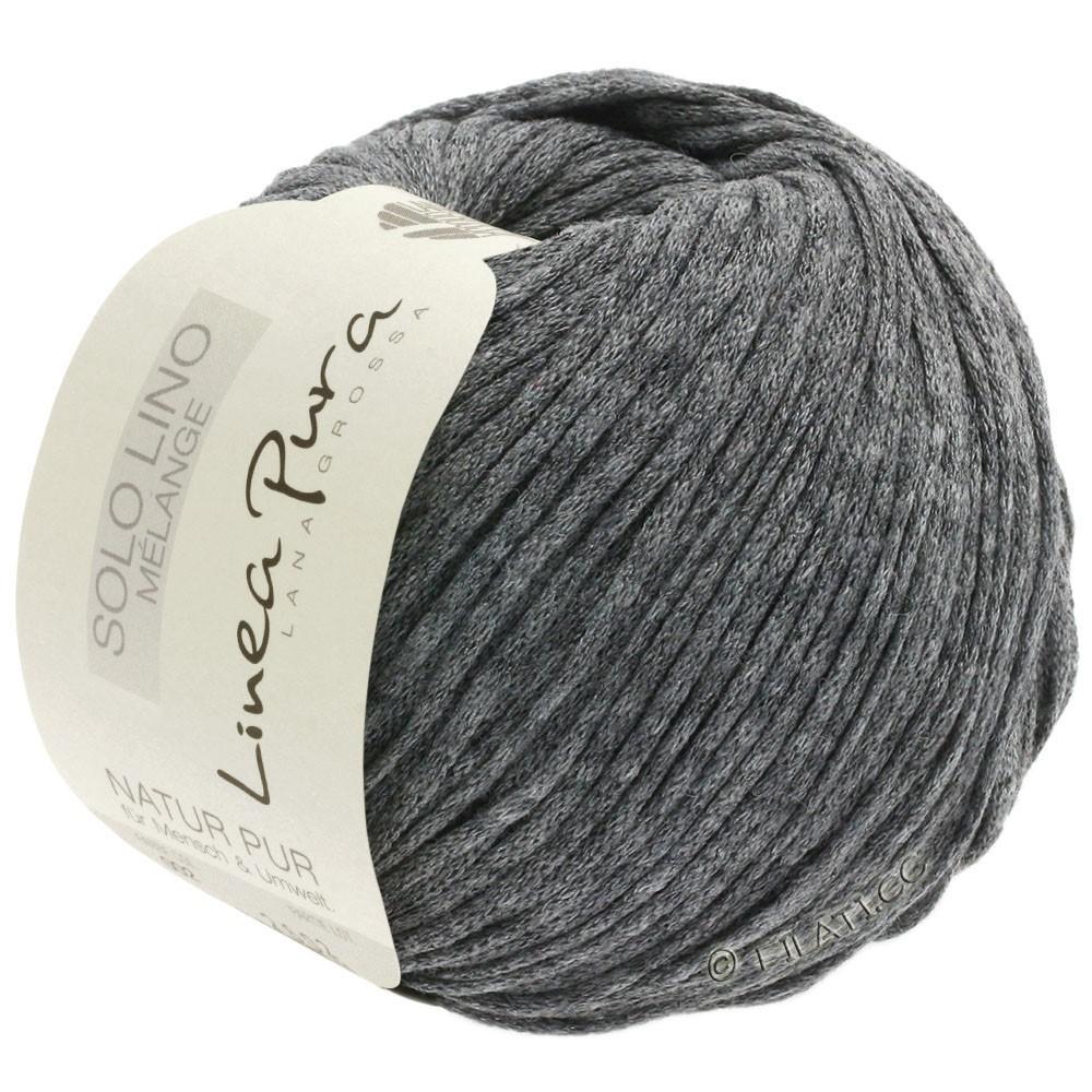 Lana Grossa SOLO LINO MELANGE (Linea Pura) | 111-темно-серый смешанный