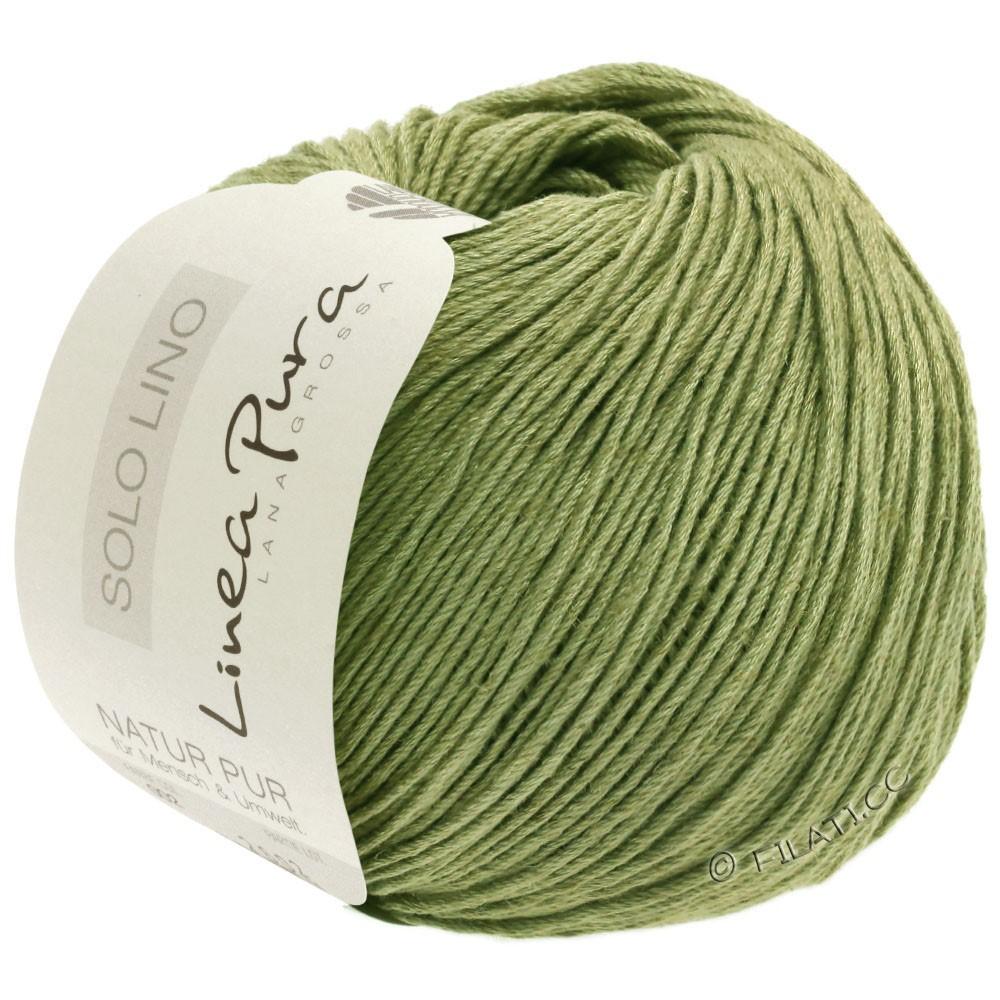Lana Grossa SOLO LINO (Linea Pura) | 19-пастельно-зелёный