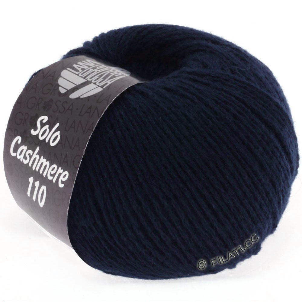 Lana Grossa SOLO CASHMERE 110   107-тёмно-синий