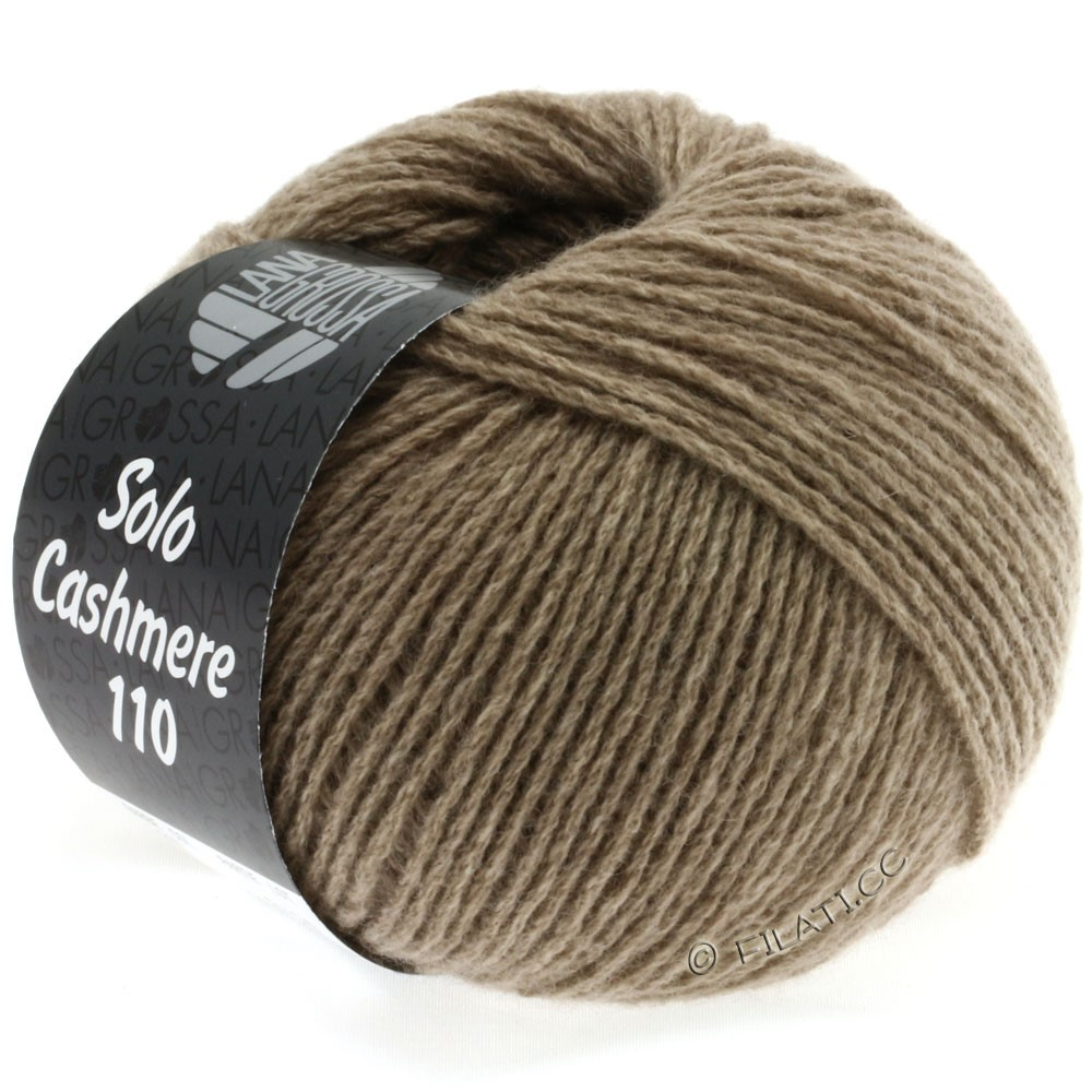 Lana Grossa SOLO CASHMERE 110   117-серо-коричневый