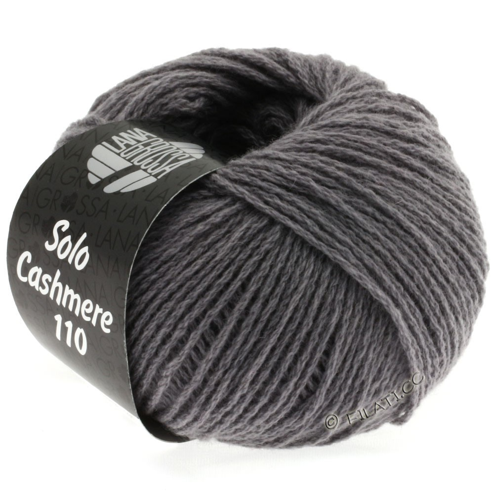 Lana Grossa SOLO CASHMERE 110 | 124-средне-серый