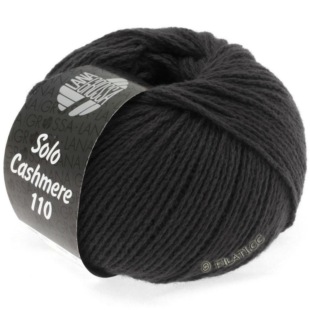 Lana Grossa SOLO CASHMERE 110   135-чёрно-коричневый