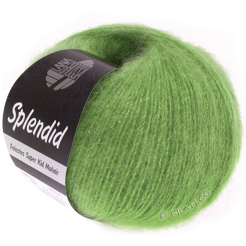 Lana Grossa SPLENDID | 21-зелёный/серебряный