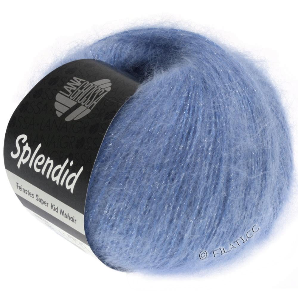 Lana Grossa SPLENDID | 23-синий/серебряный