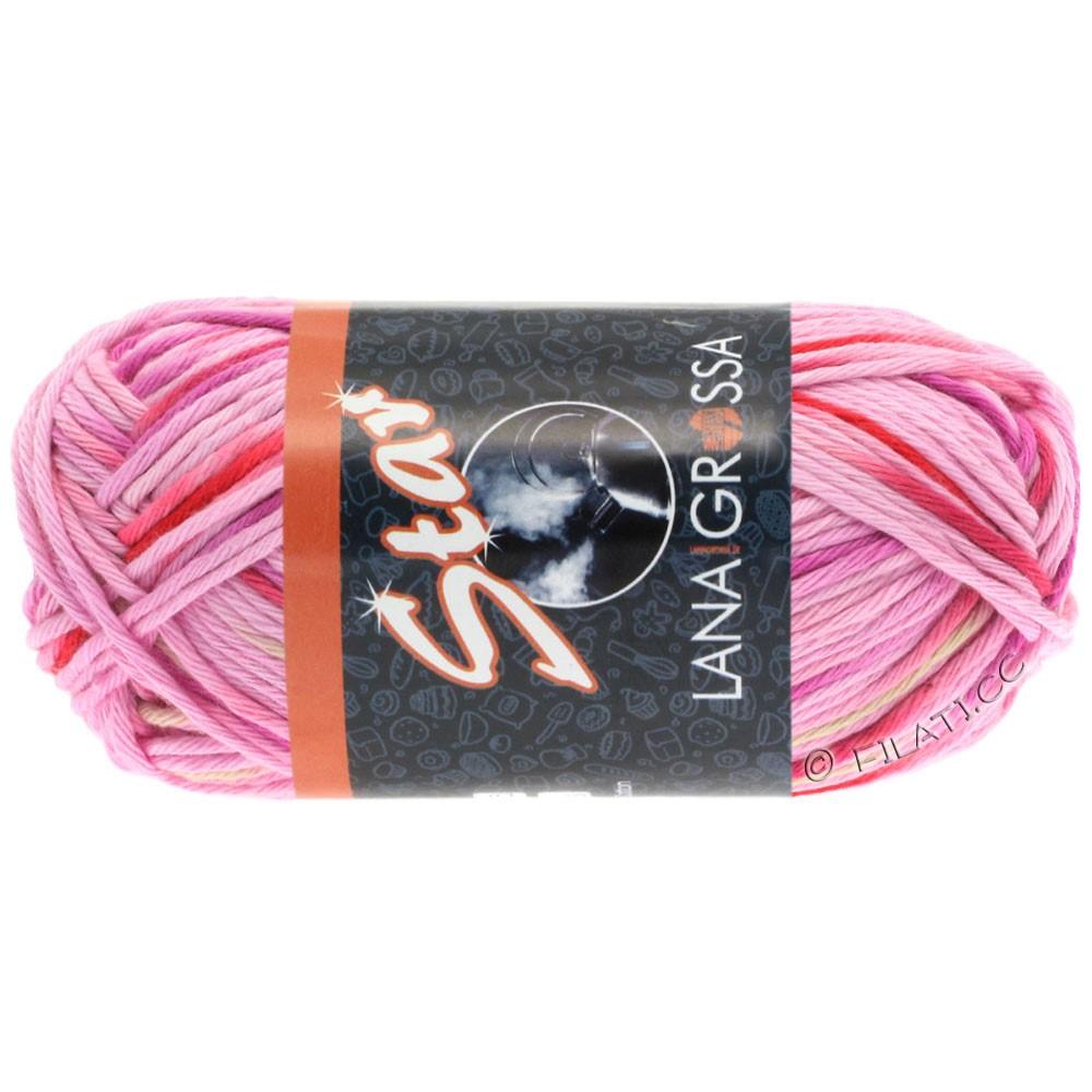Lana Grossa STAR Print принт | 318-розовый/пинк/красная клубника /натуральный