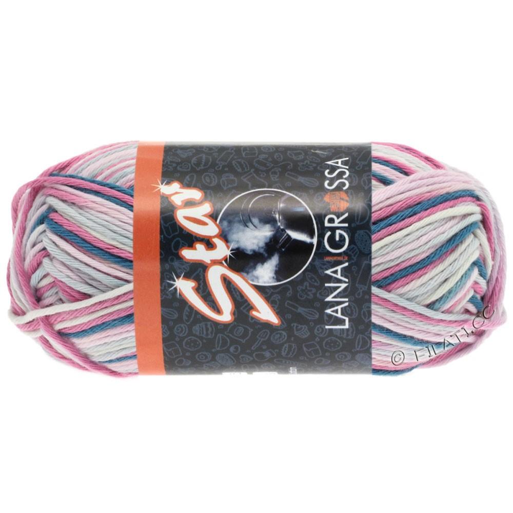 Lana Grossa STAR Print принт | 333-натуральный/пинк/розовый/светло-серый/синий дым