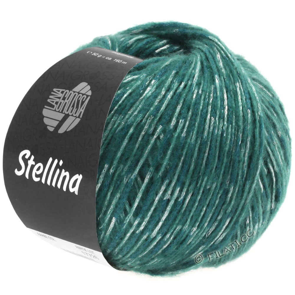 Lana Grossa STELLINA | 07-тёмно сине-зеленый/светлый сине-голубой