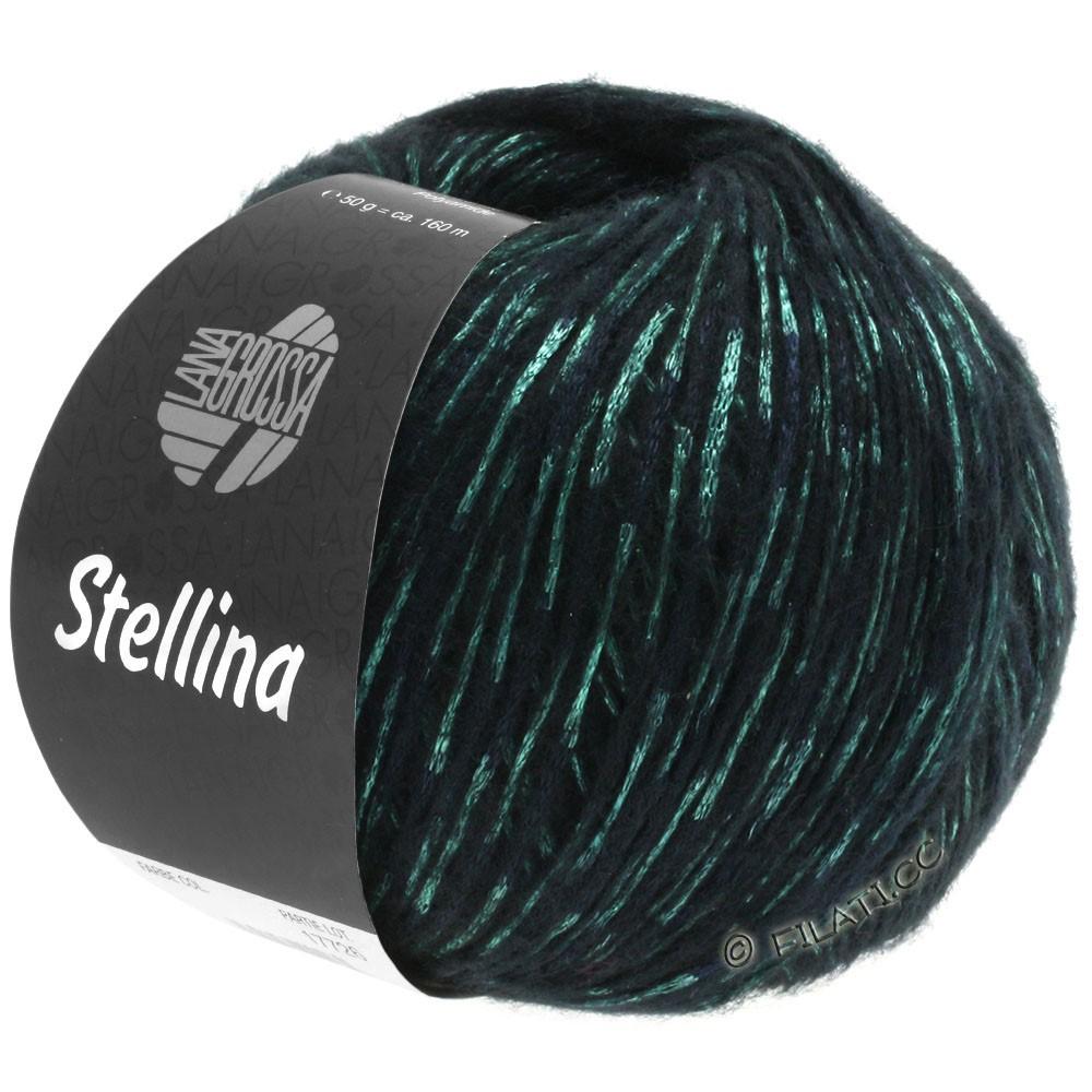 Lana Grossa STELLINA | 13-чёрный/зелёный