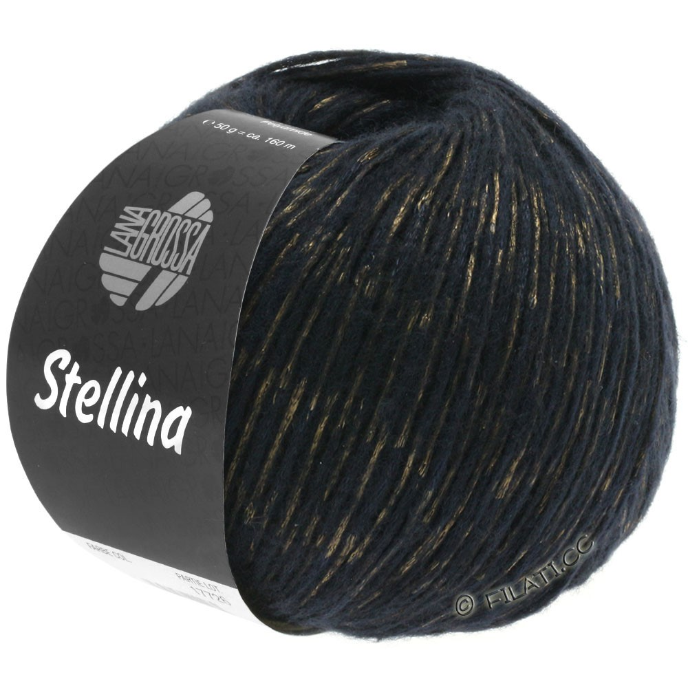 Lana Grossa STELLINA | 14-чёрный/медь