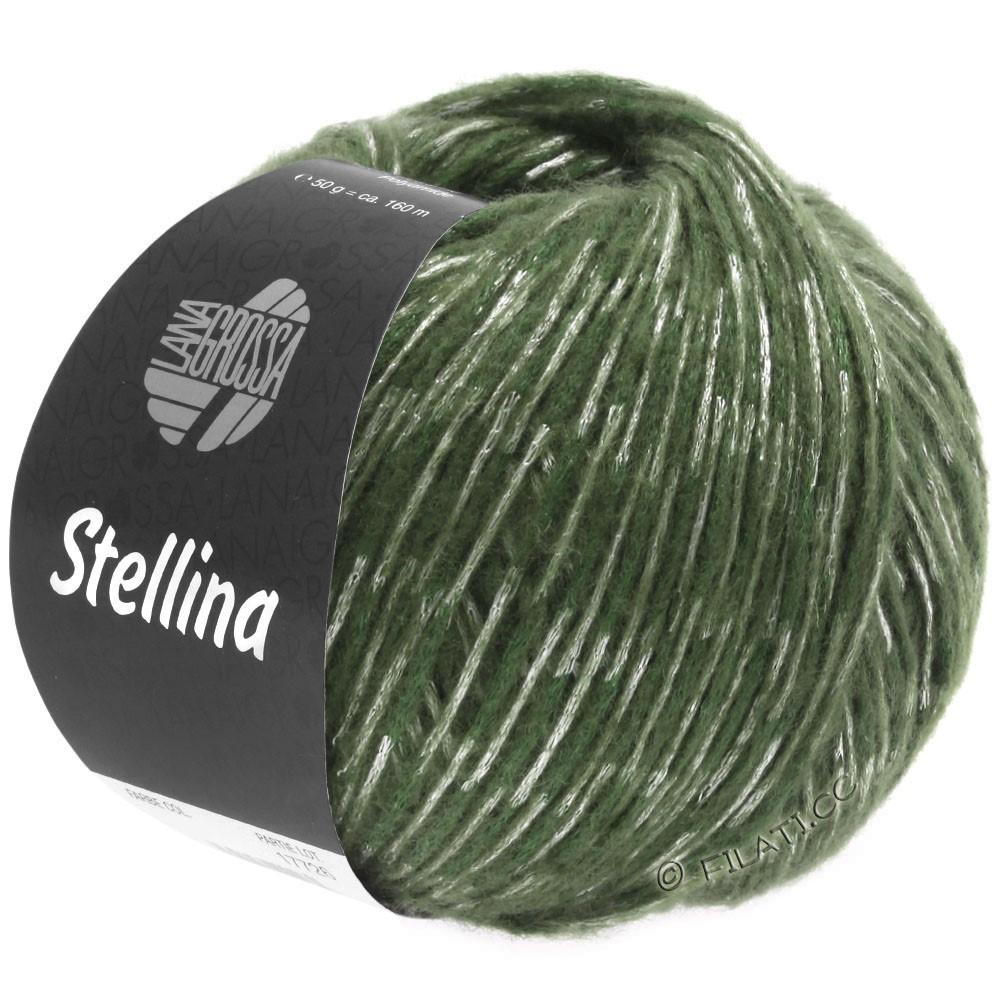 Lana Grossa STELLINA | 19-зелёный/серо-зеленый