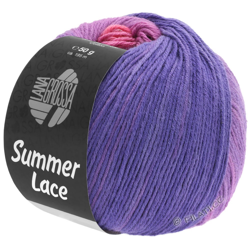 Lana Grossa SUMMER LACE DEGRADÉ | 102-пинк/пурпурный/сине-фиолетовый