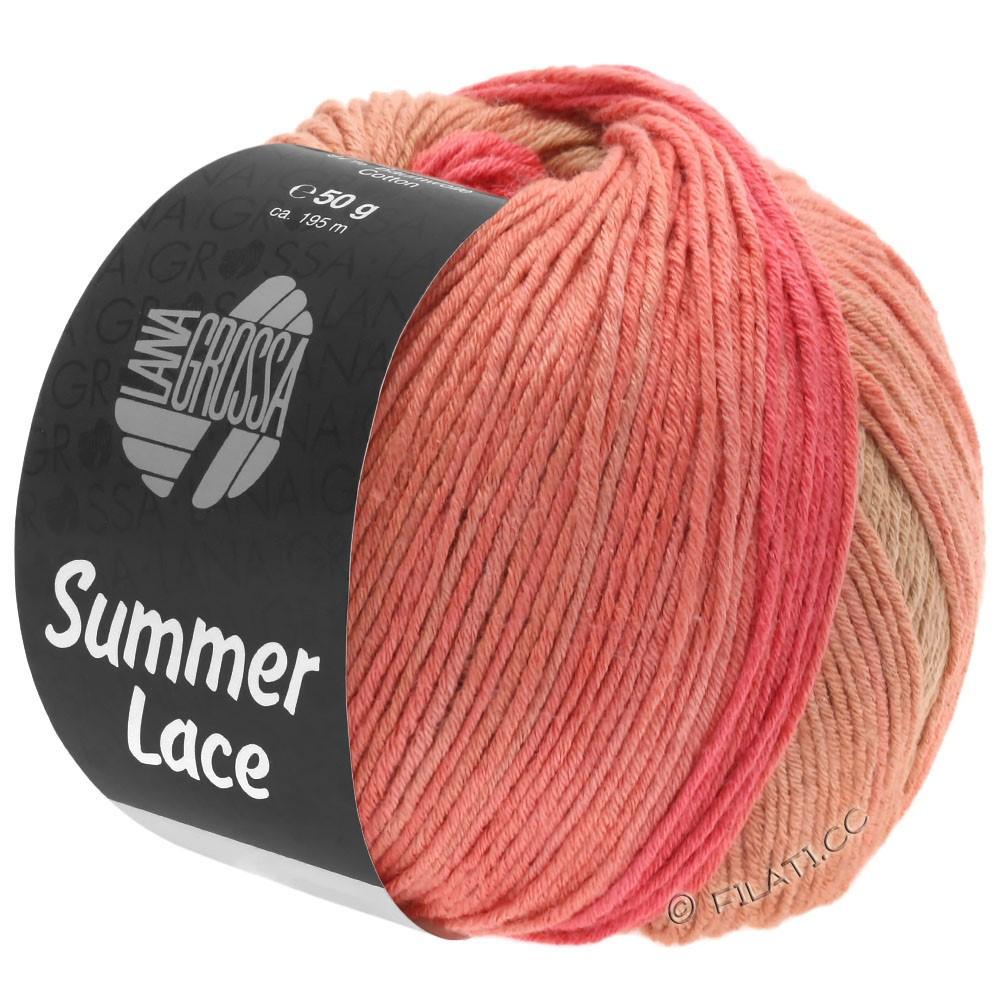 Lana Grossa SUMMER LACE DEGRADÉ | 105-персик/малиновый/песок