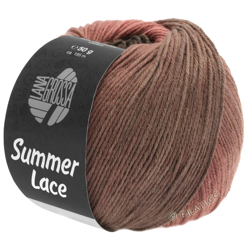 Lana Grossa SUMMER LACE DEGRADÉ | 106-ветхо-розовый/розовое дерево/серо-бежевый