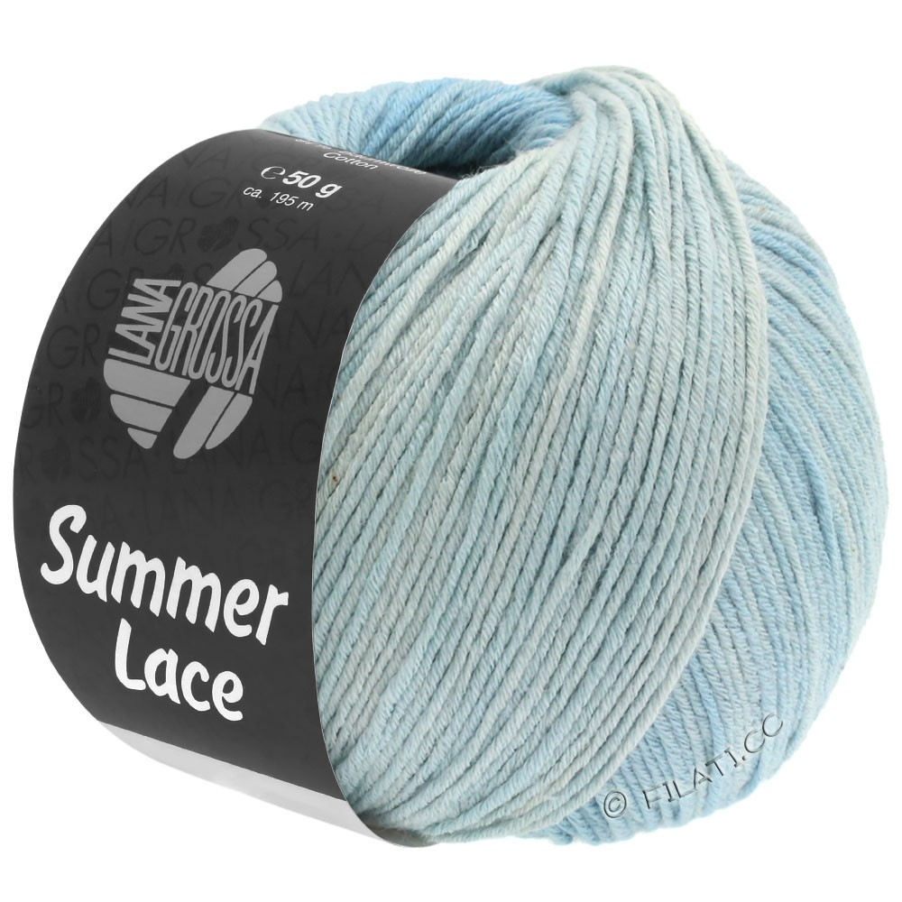 Lana Grossa SUMMER LACE DEGRADÉ | 109-натуральный/синяя пастель/светло-голубой