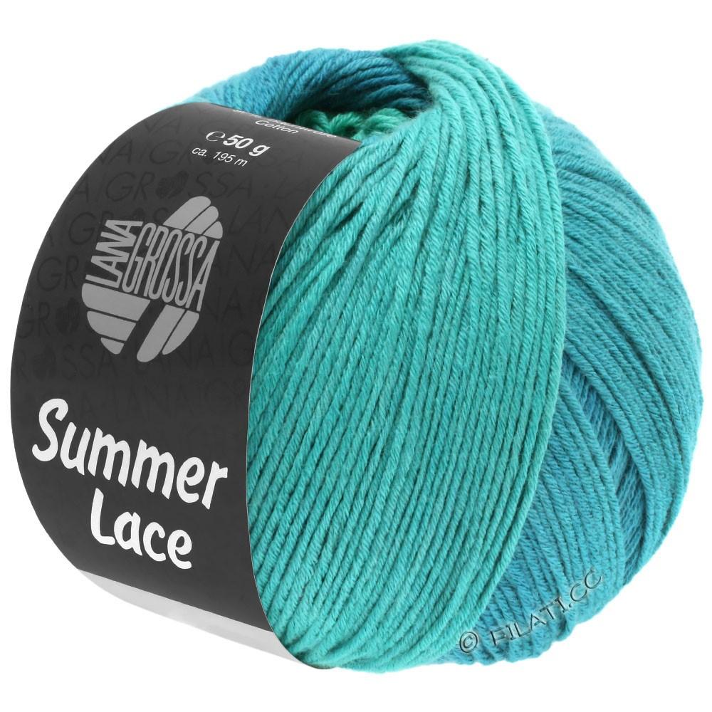 Lana Grossa SUMMER LACE DEGRADÉ   113-бирюзовый/петроль синий/петроль зелёный