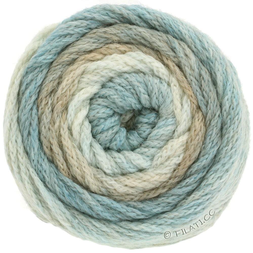 Lana Grossa SUPER COLOR | 101-натуральный/бежевый/светло-голубой/бледносиний
