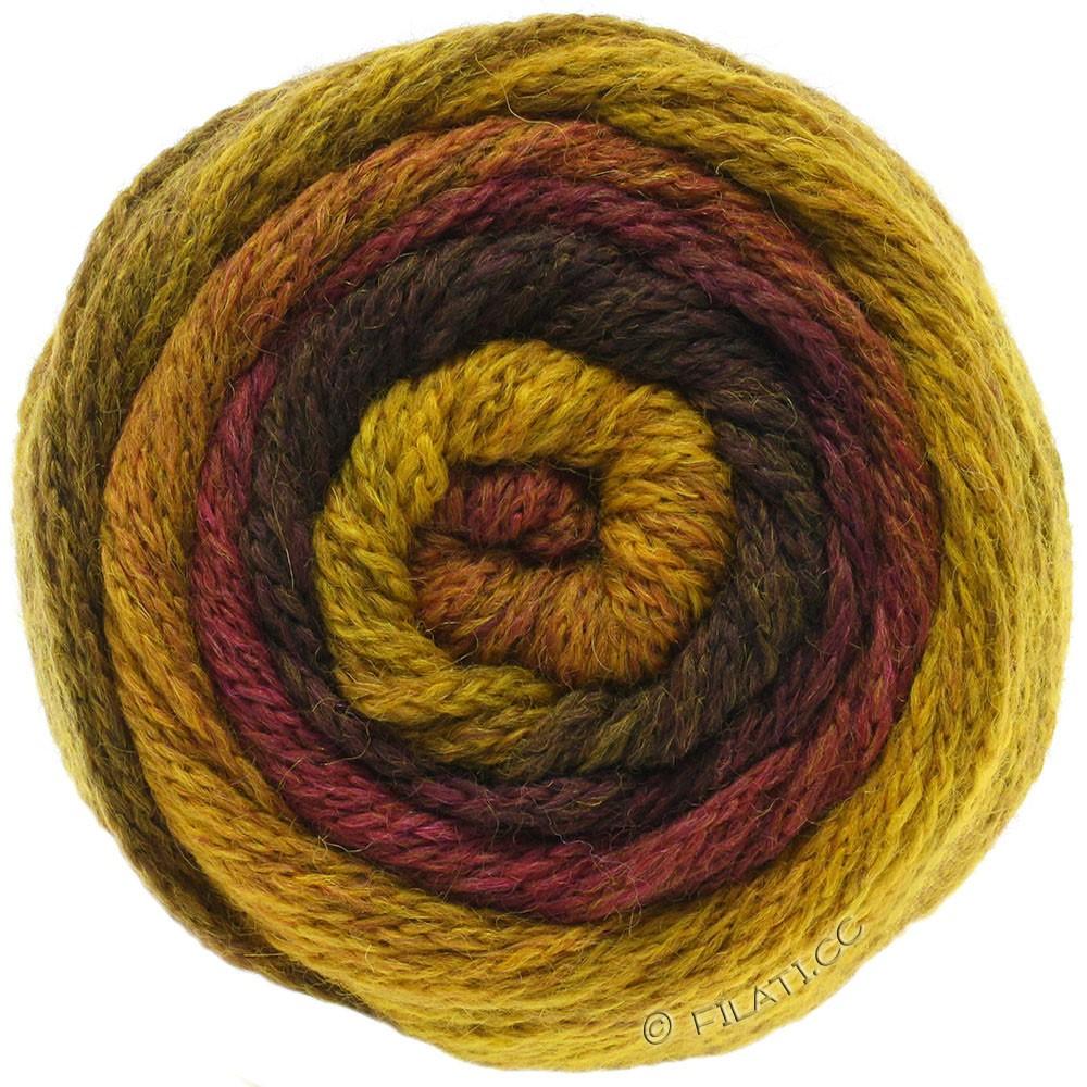 Lana Grossa SUPER COLOR | 106-горчично-желтый/красно-коричневый/тёмно-коричневый