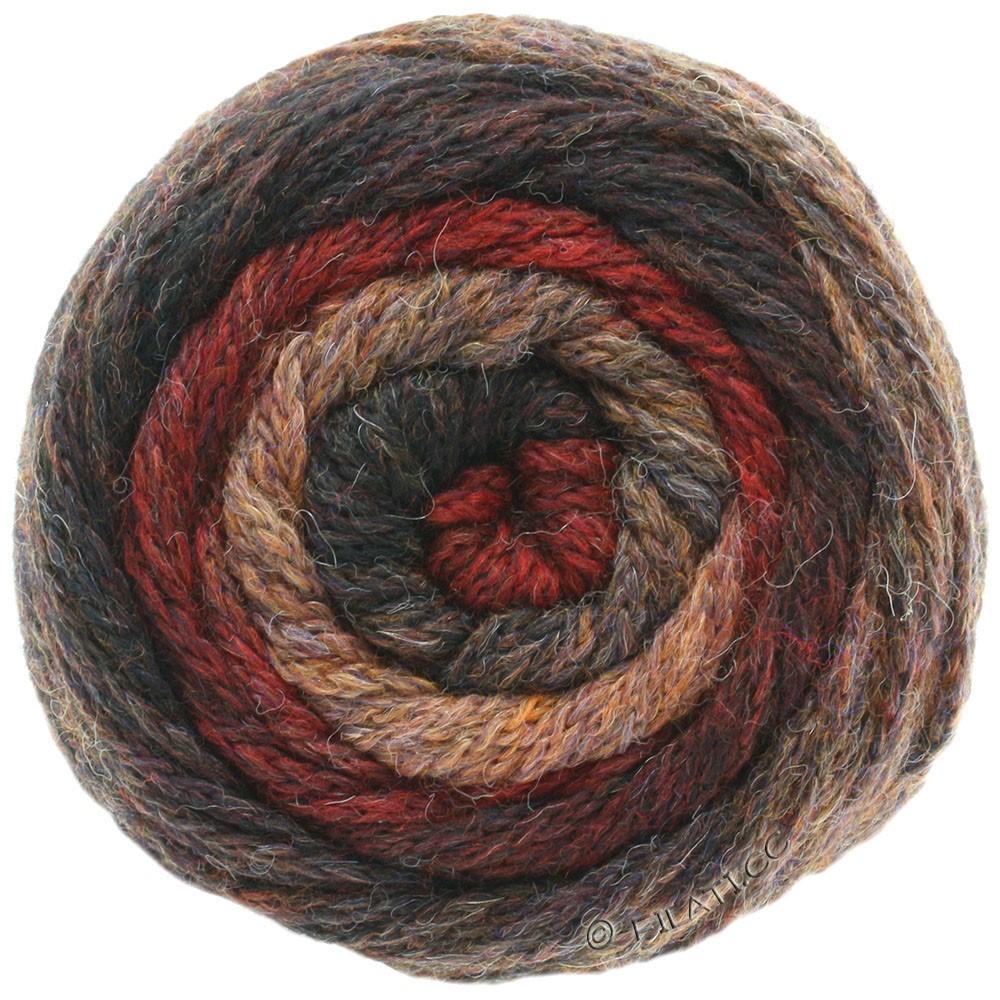 Lana Grossa SUPER COLOR | 107-нуга/тёмно-красный/серо-коричневый/кофе мокко