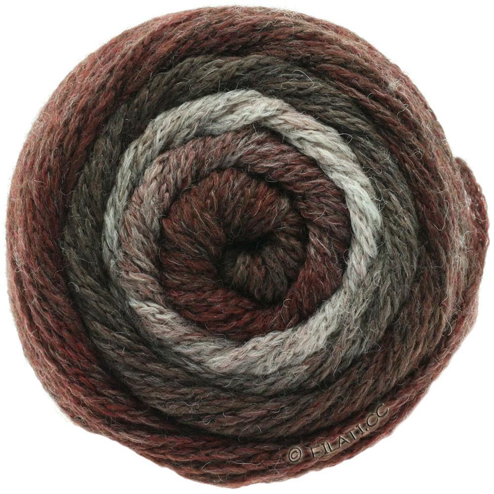 Lana Grossa SUPER COLOR | 108-натуральный/серо-коричневый/серо-красный/ежевика