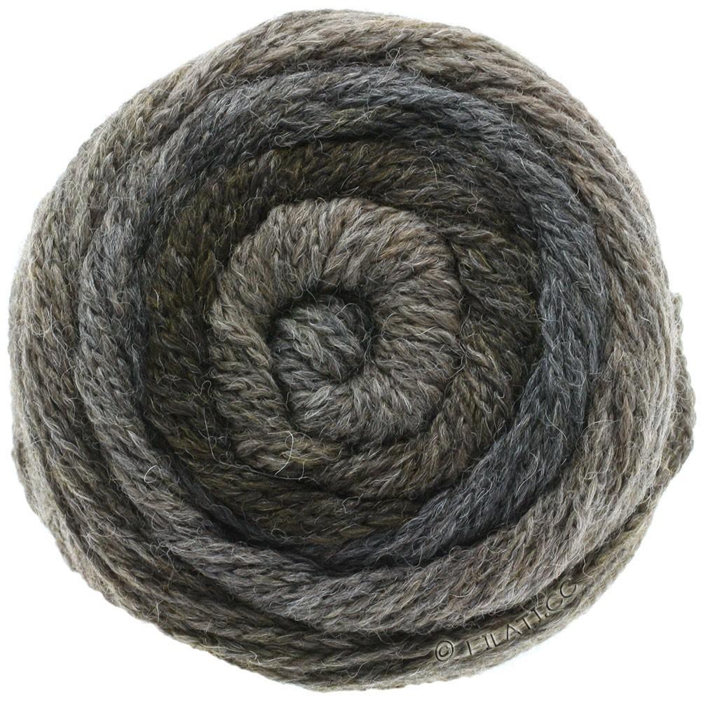 Lana Grossa SUPER COLOR | 110-тёмно-серый/серо-коричневый/антрацитовый