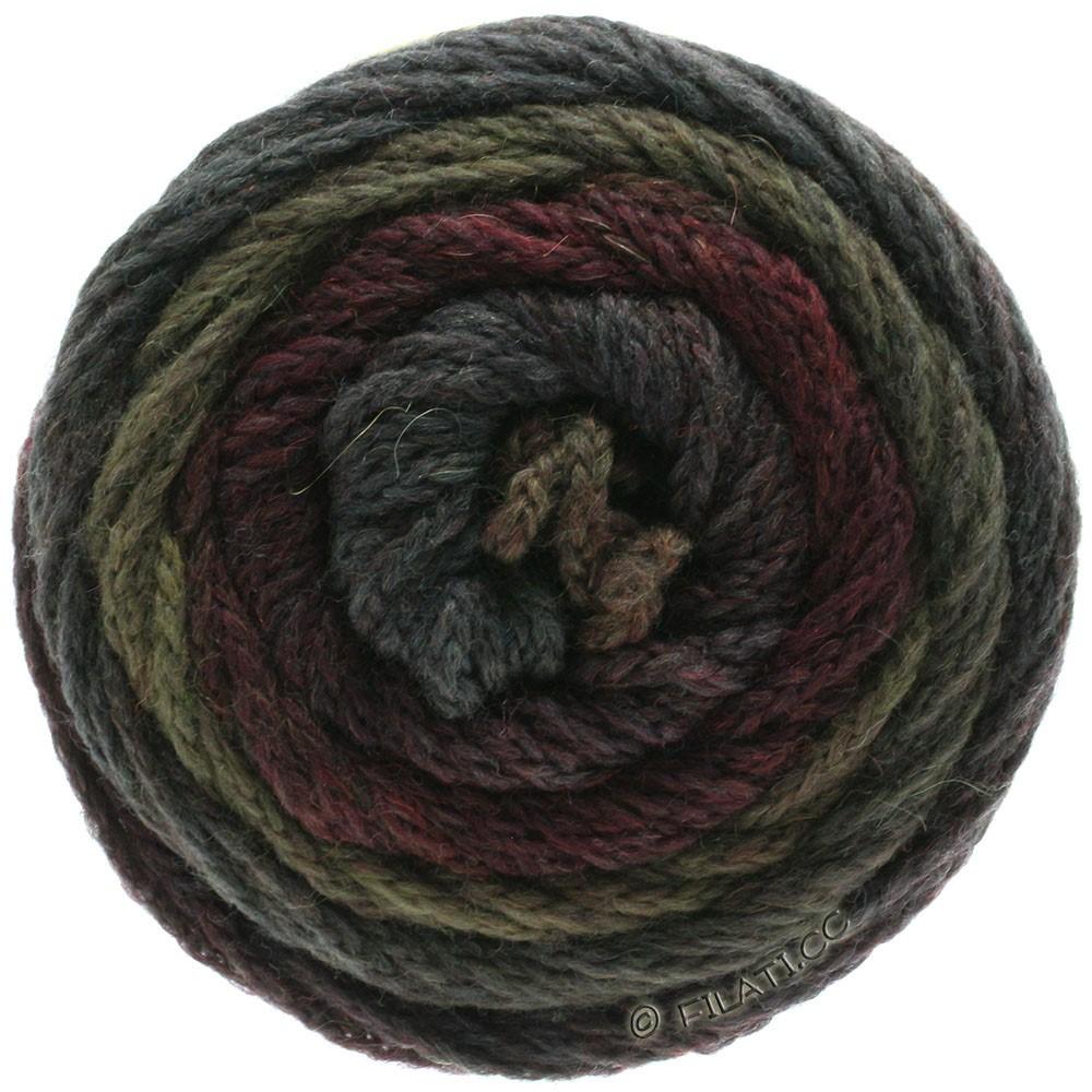 Lana Grossa SUPER COLOR | 114-чёрно-красный/грязь/антрацитовый