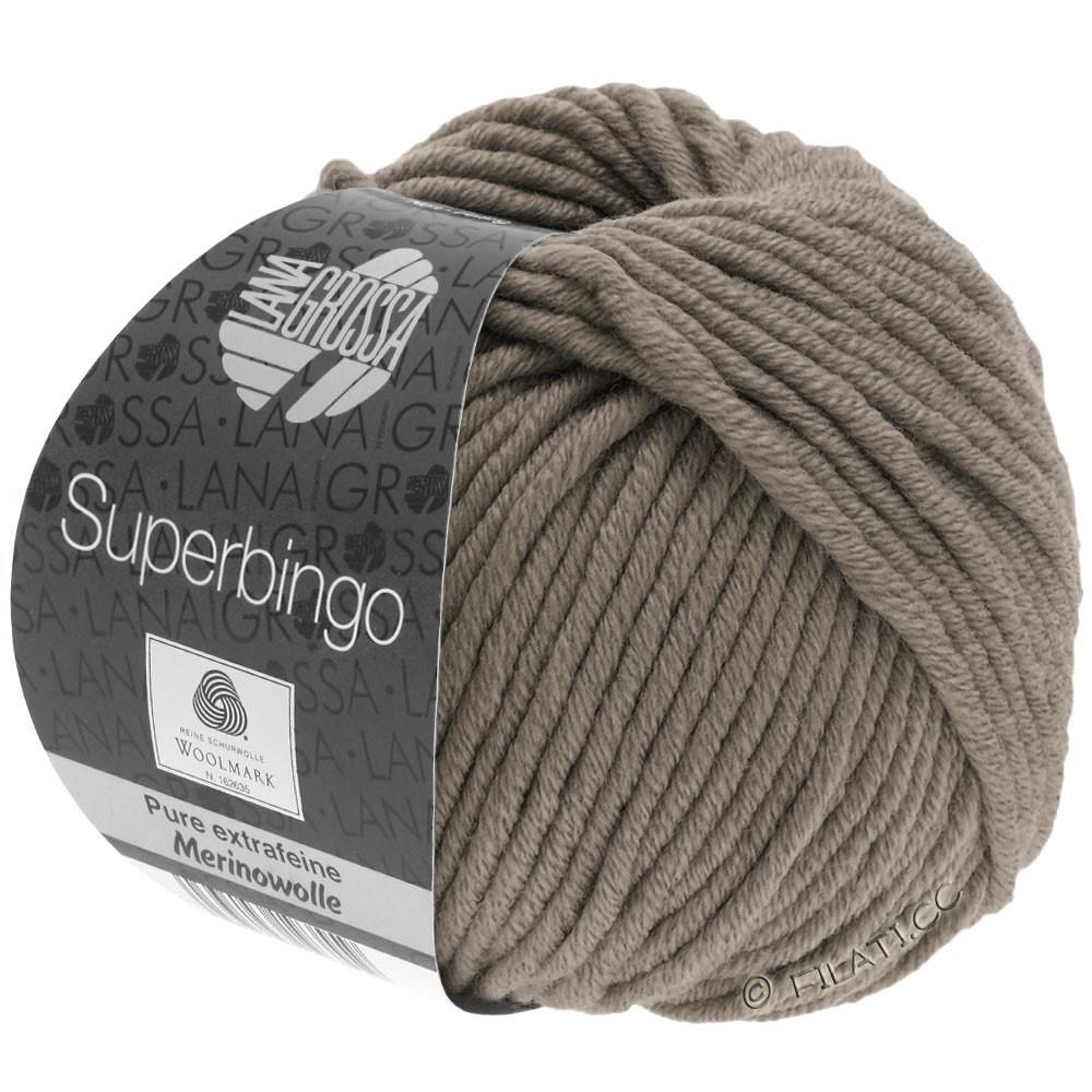 Lana Grossa SUPERBINGO | 004-серо-коричневый