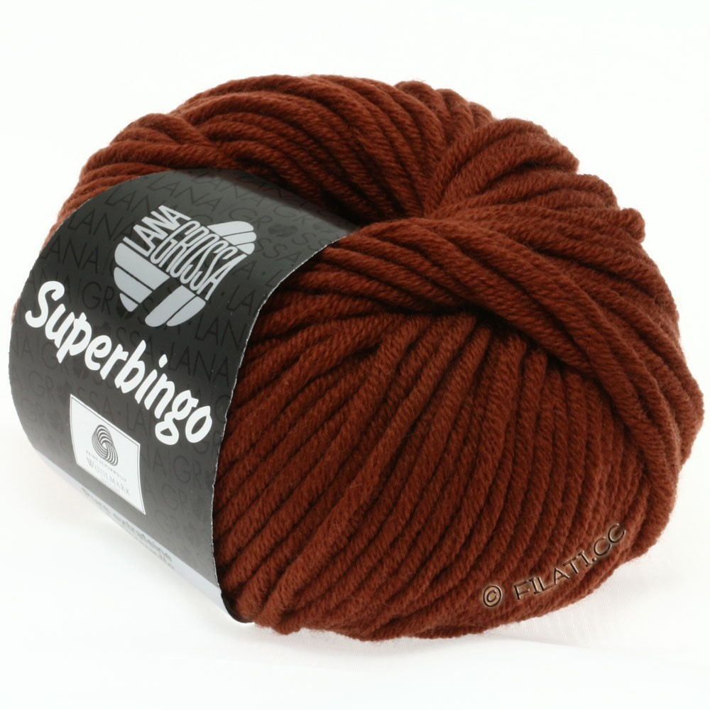 Lana Grossa SUPERBINGO | 048-коричнево-красный