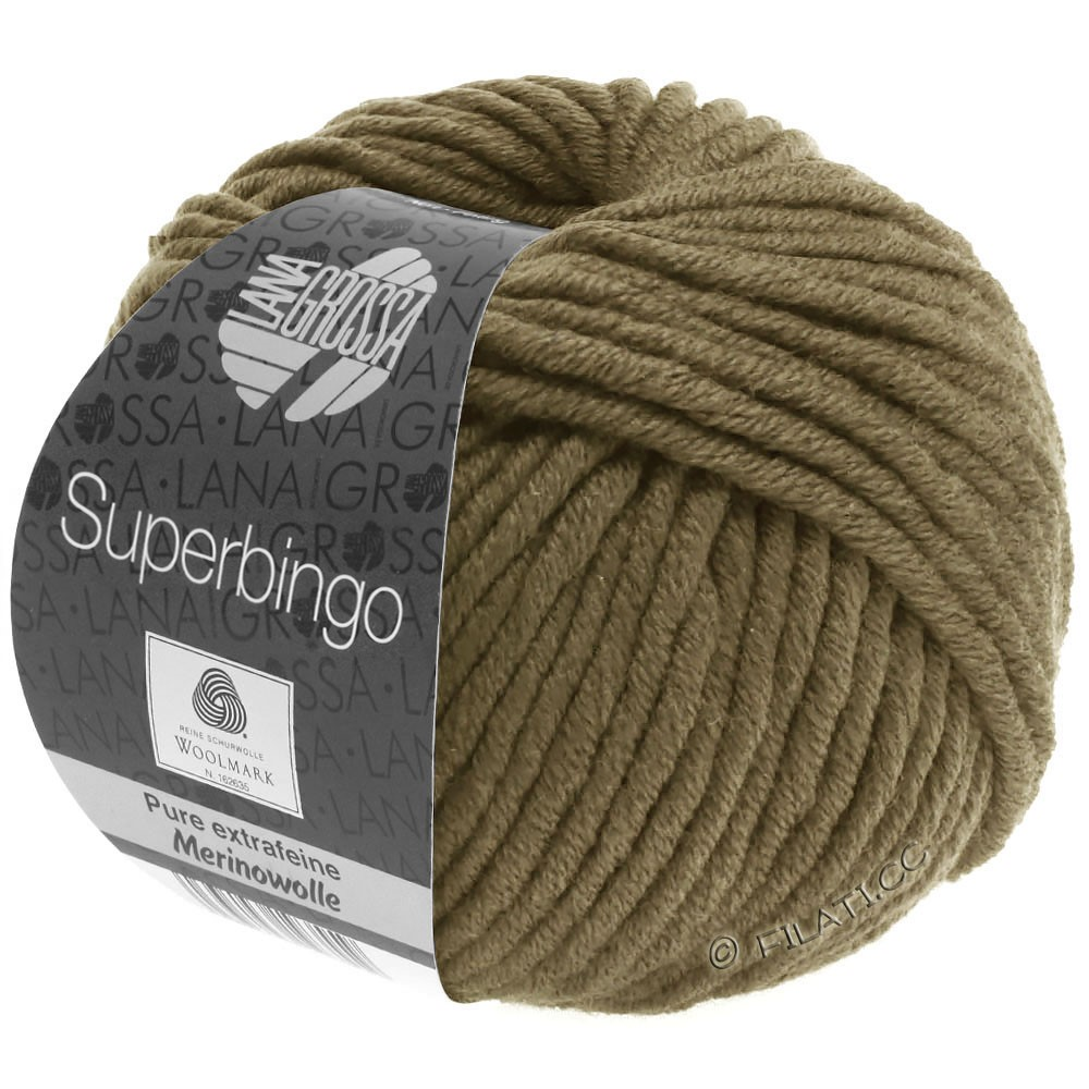 Lana Grossa SUPERBINGO | 070-оливково-коричневый