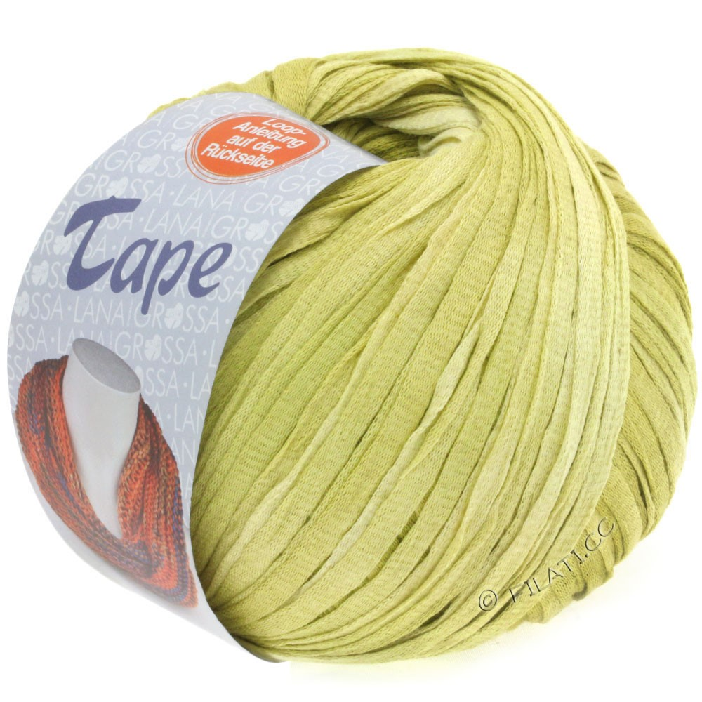 Lana Grossa TAPE (McWool) | 05-мягко-желтый/жёлто-зеленый