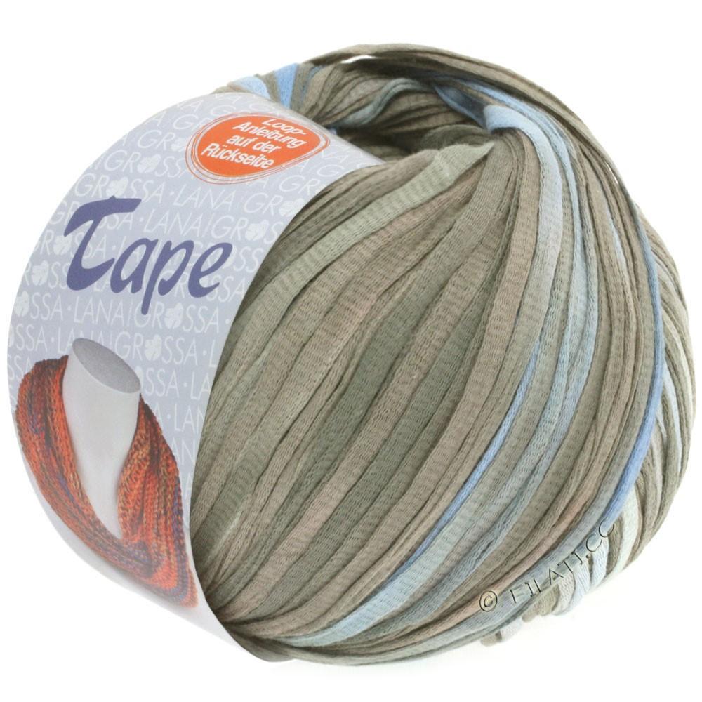 Lana Grossa TAPE (McWool) | 103-лилово-голубой/серый