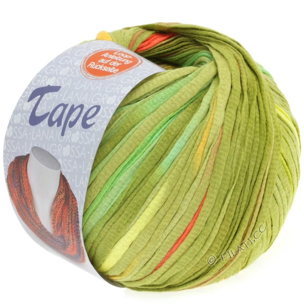 Lana Grossa TAPE (McWool) | 107-ванильный/светло-зелёный