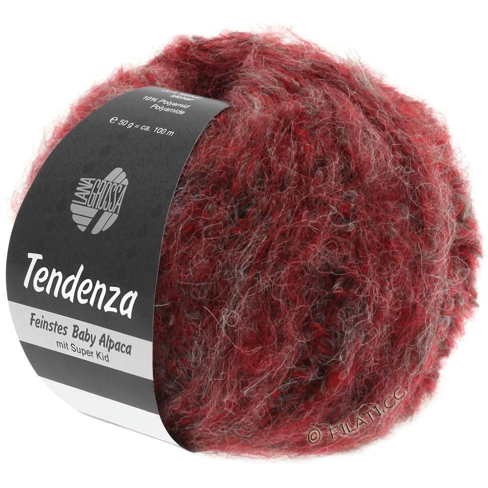 Lana Grossa TENDENZA   003-красный/серый