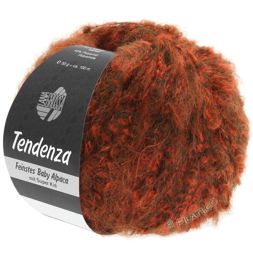 Lana Grossa TENDENZA | 006-тёмно-коричневый/оранжевый