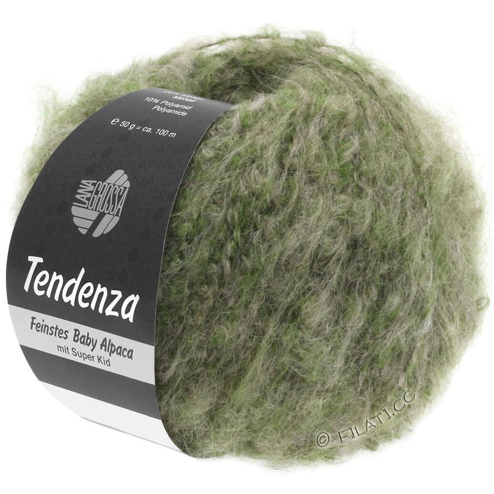 Lana Grossa TENDENZA | 007-зелёный/бежевый