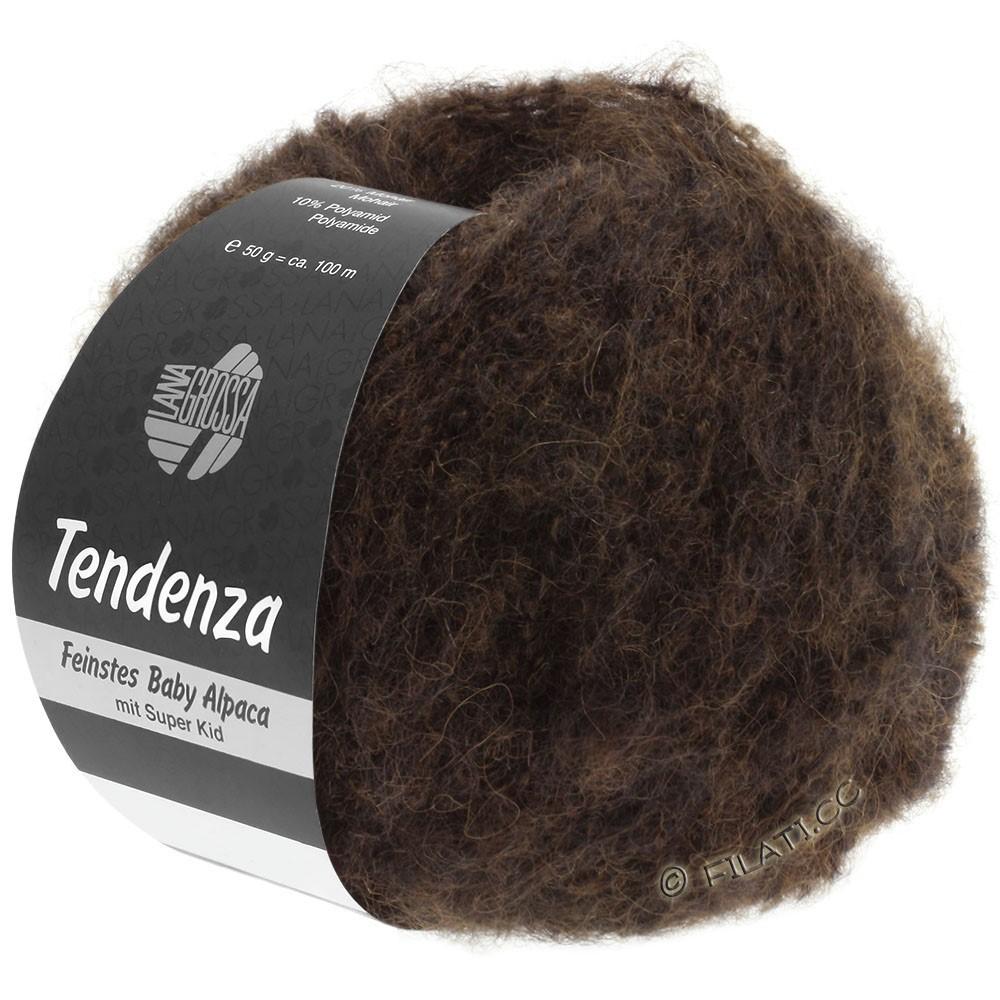 Lana Grossa TENDENZA | 012-тёмно-коричневый/чёрный