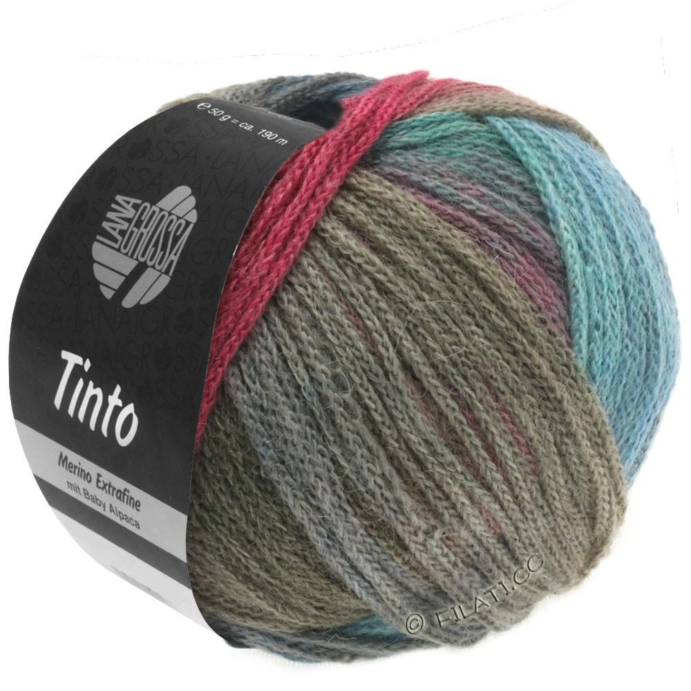 Lana Grossa TINTO | 01-бирюзовый/ягодный/серый/хаки/синий