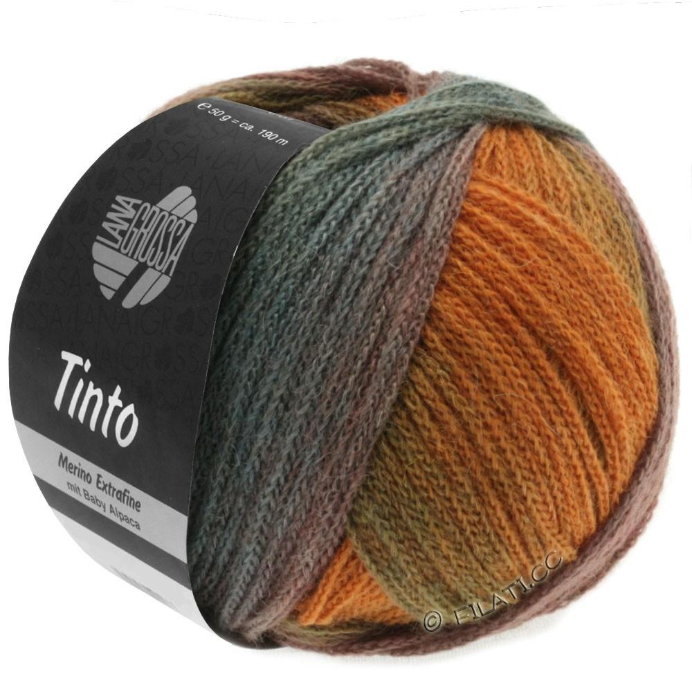 Lana Grossa TINTO | 03-петроль/цвет ржавчины/зелёный/бирюзовый/оливковый/хаки